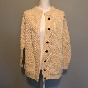 100% Wool Authentic Irish Sweater Cork, Ireland
